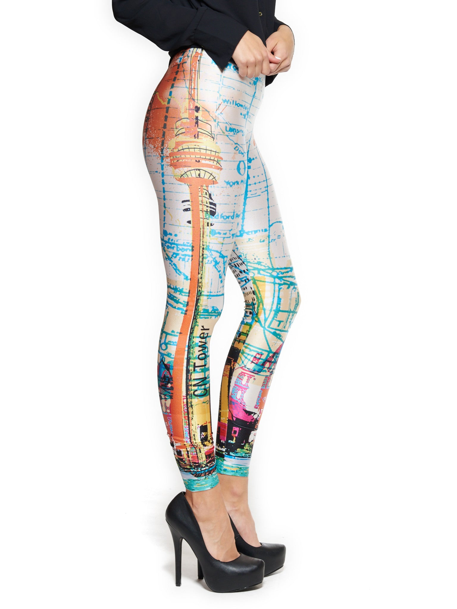 Toronto Skyline Queen West Leggings - Nuvango  - 2