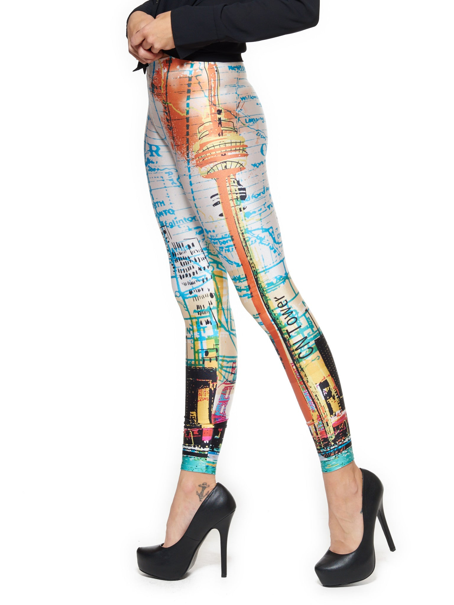 Toronto Skyline Queen West Leggings - Nuvango  - 4