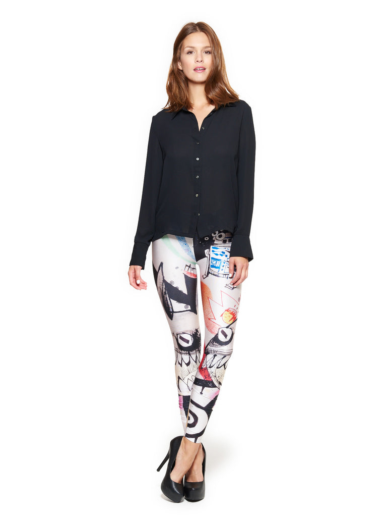 Smoke Aluminum Queen West Leggings - Nuvango  - 1