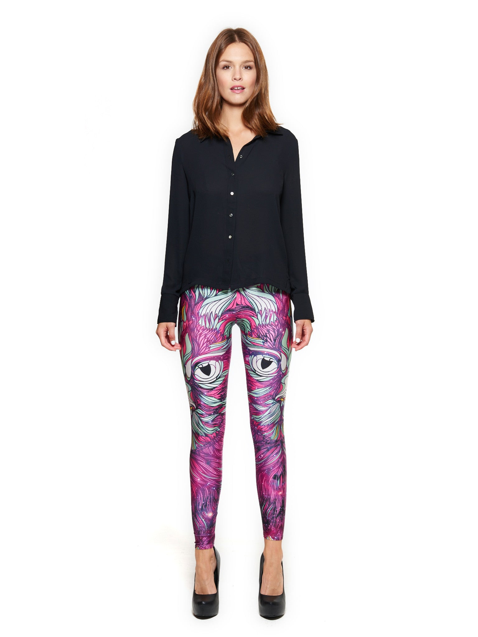 Space Cat Queen West Leggings - Nuvango  - 1