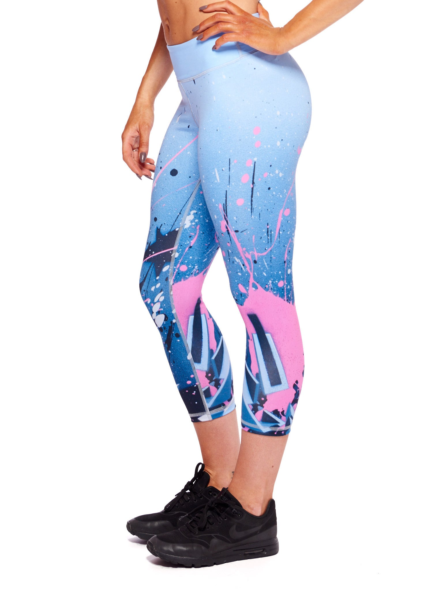 Fancy Explosion Activewear Crop Leggings