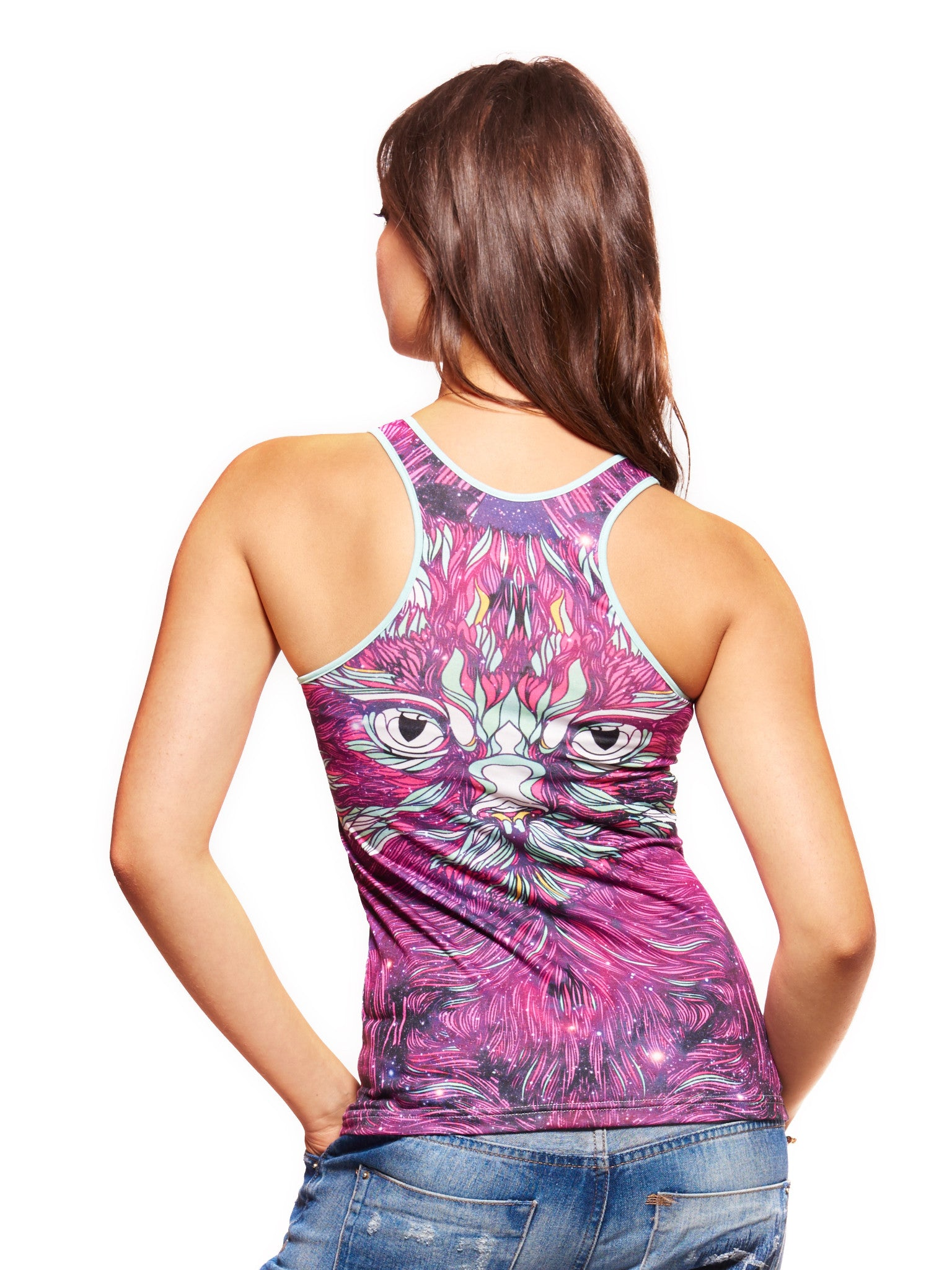 Space Cat Women's Trinity Tank - Nuvango  - 2