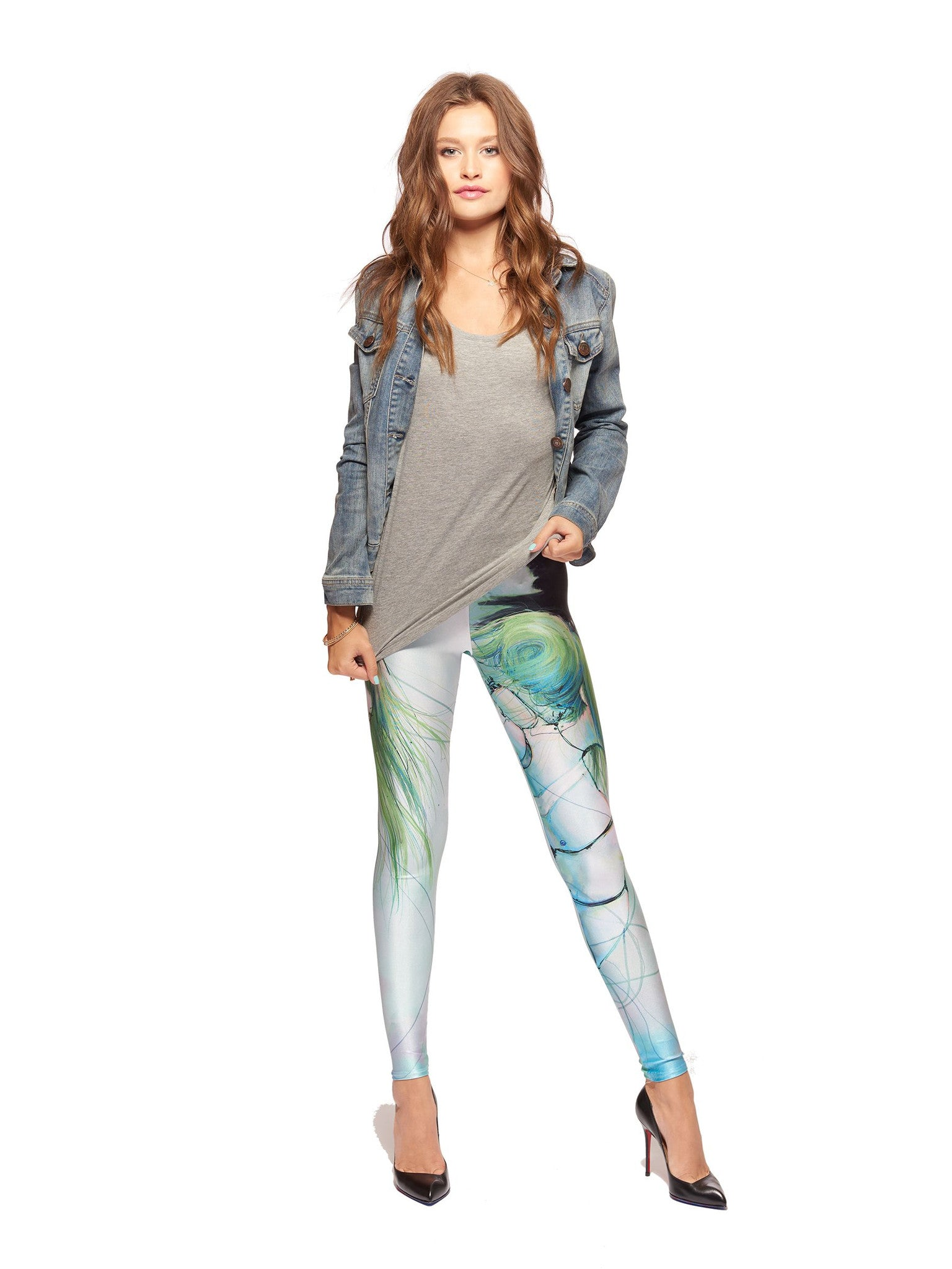 Disassembled Tears Queen West Leggings - Nuvango  - 1