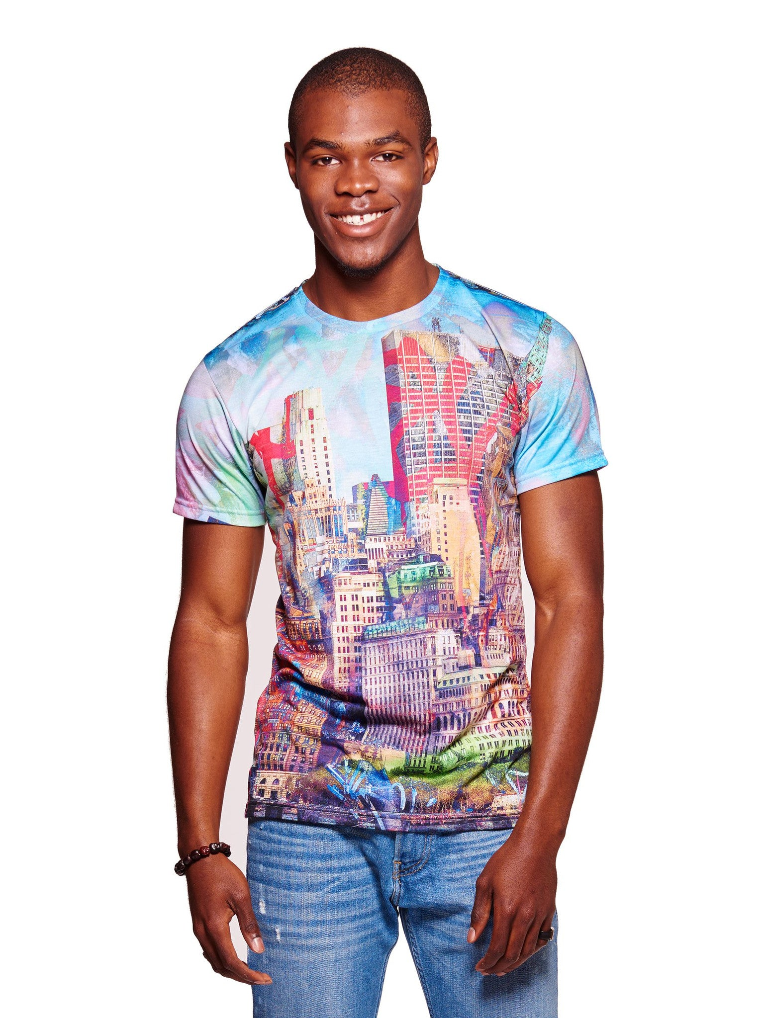Graffiti Skyline Men's Classic T-Shirt - Nuvango  - 1