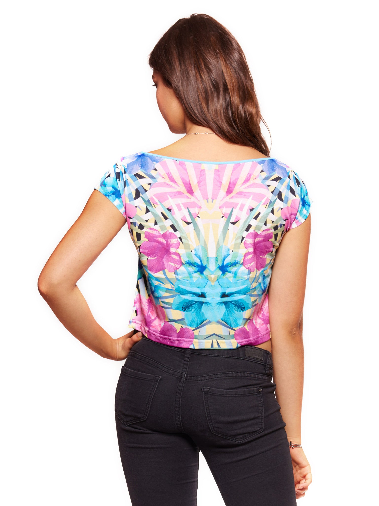 Tropical flowers Women's Crop Top - Nuvango  - 2