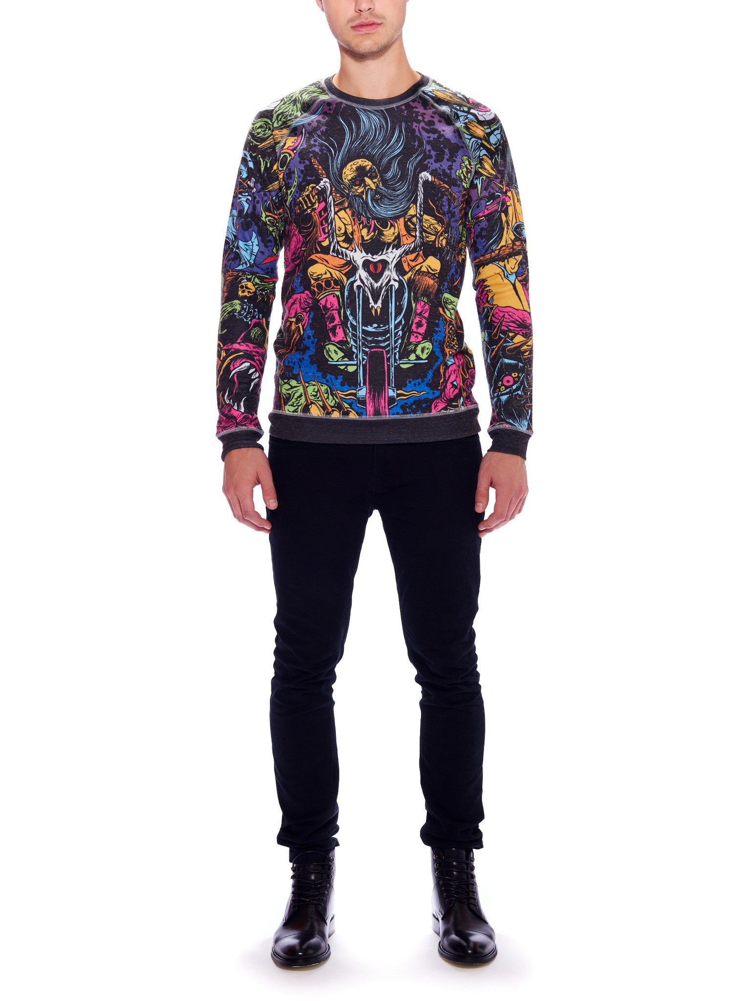 Space Biker Crewneck Sweater