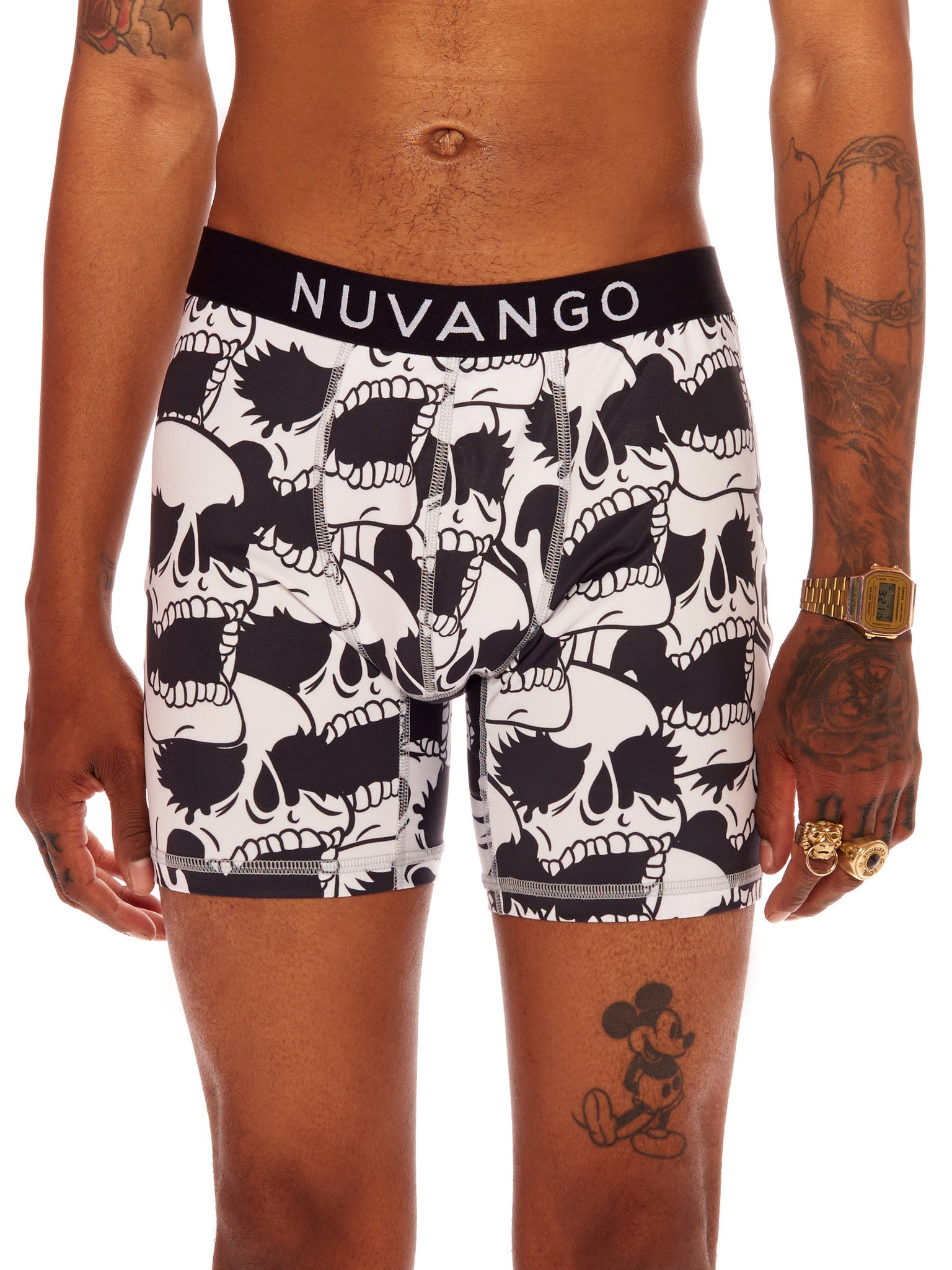 Skull Pattern Boxer Briefs
