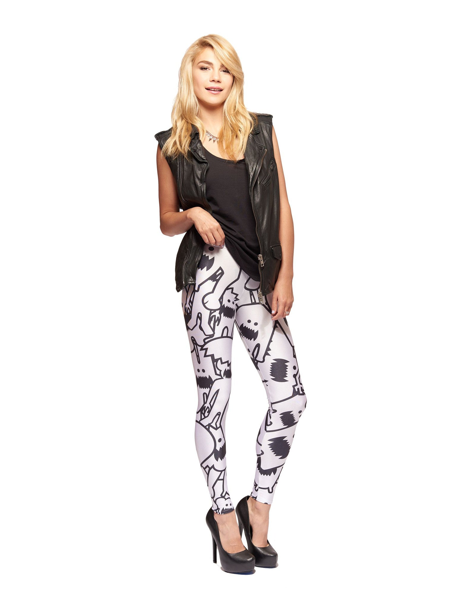 Monster Collage Queen West Leggings - Nuvango  - 1