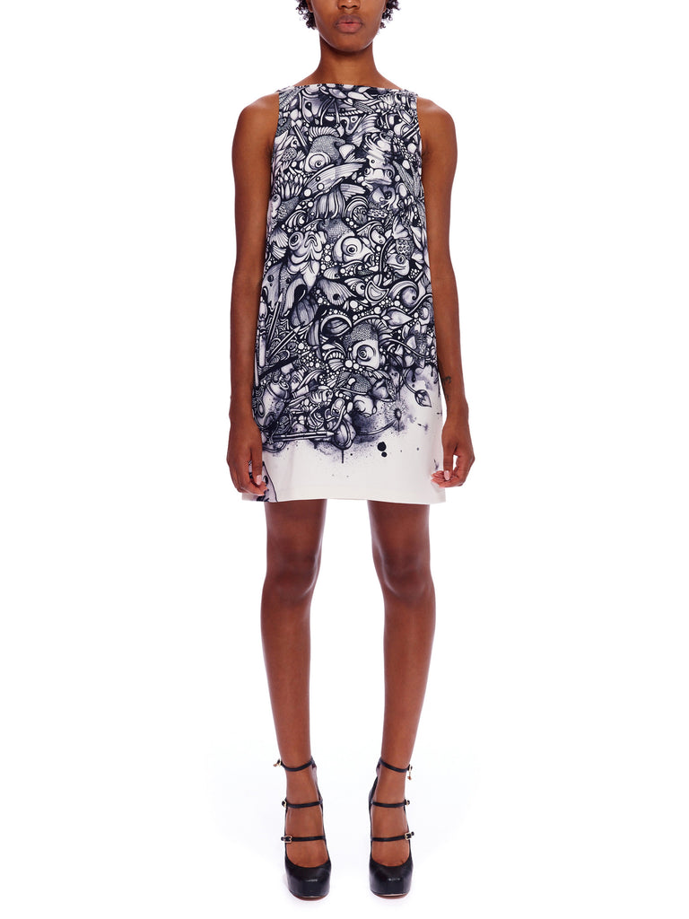 Ink Pond Shift Dress