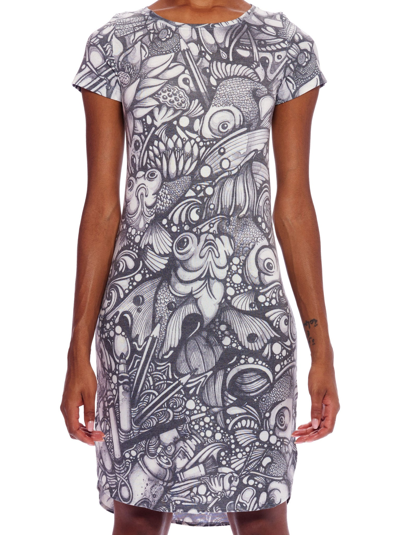 Ink Pond Tee Dress
