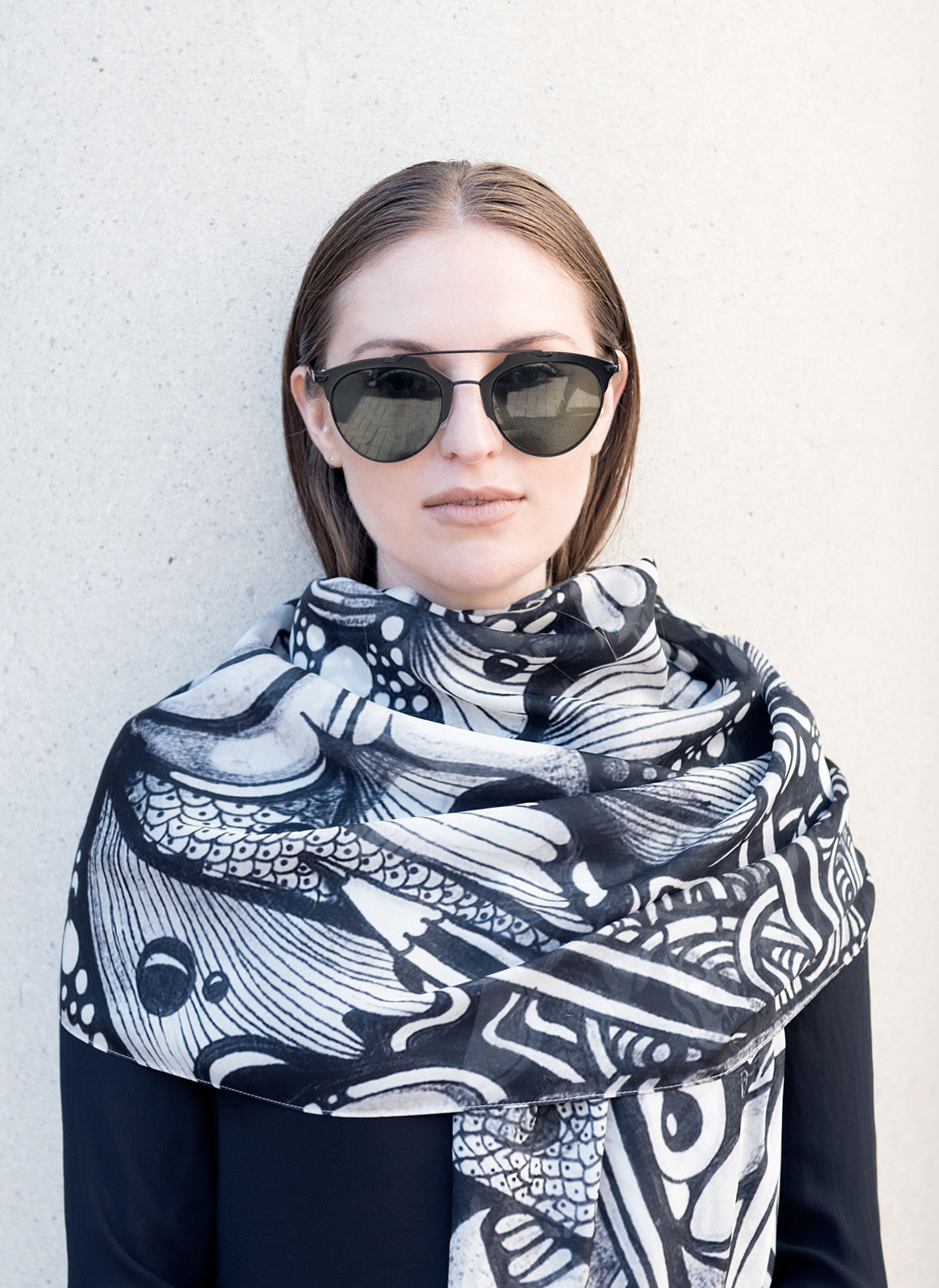 Ink Pond Scarf