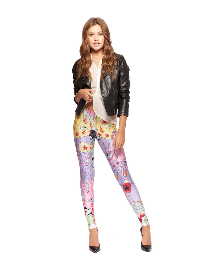 Old Kid Crashes The Party Queen West Leggings - Nuvango  - 1