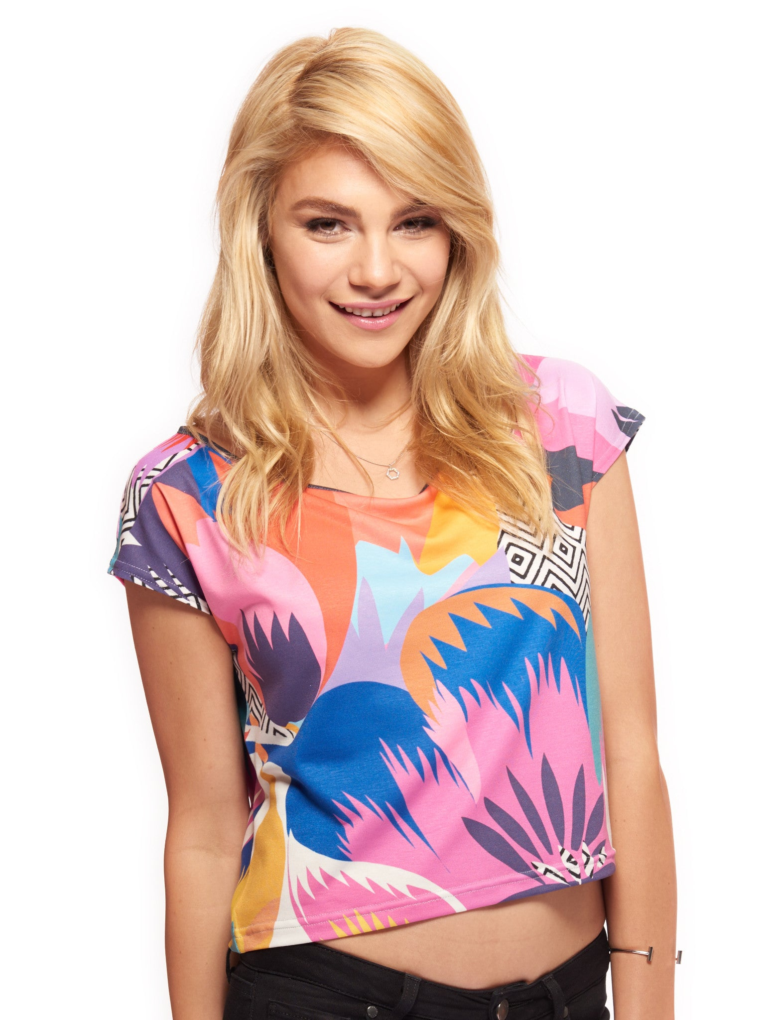 Among the Spring Flowers Women's Crop Top - Nuvango  - 1