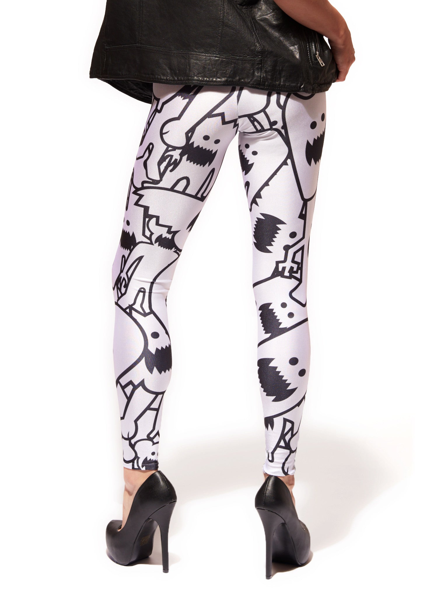 Monster Collage Queen West Leggings - Nuvango  - 3