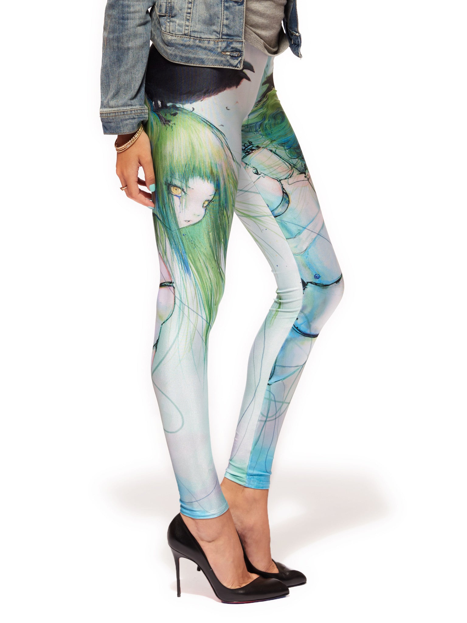 Disassembled Tears Queen West Leggings - Nuvango  - 2
