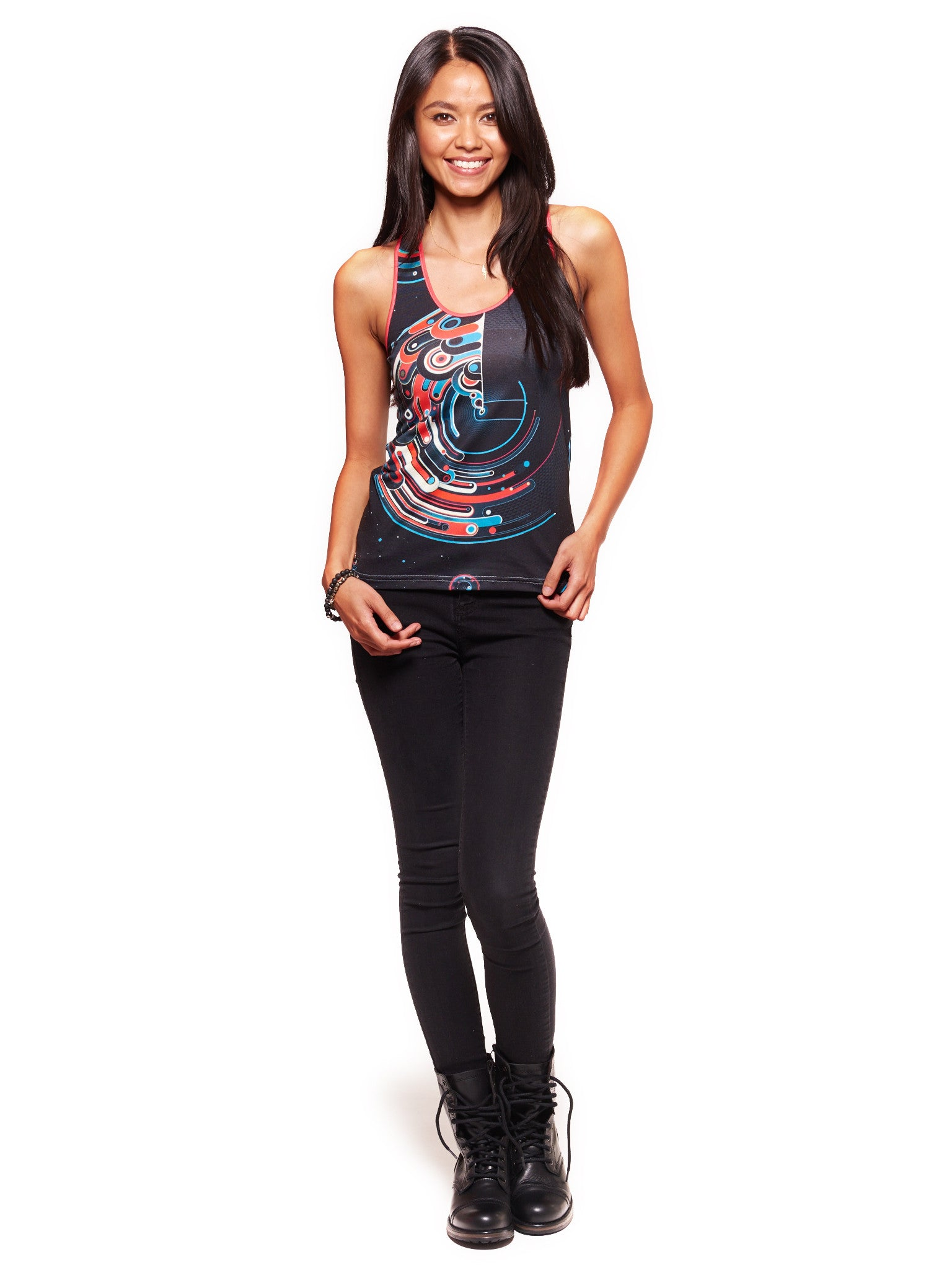 Cosmic Lighthouse Women's Trinity Tank - Nuvango  - 3