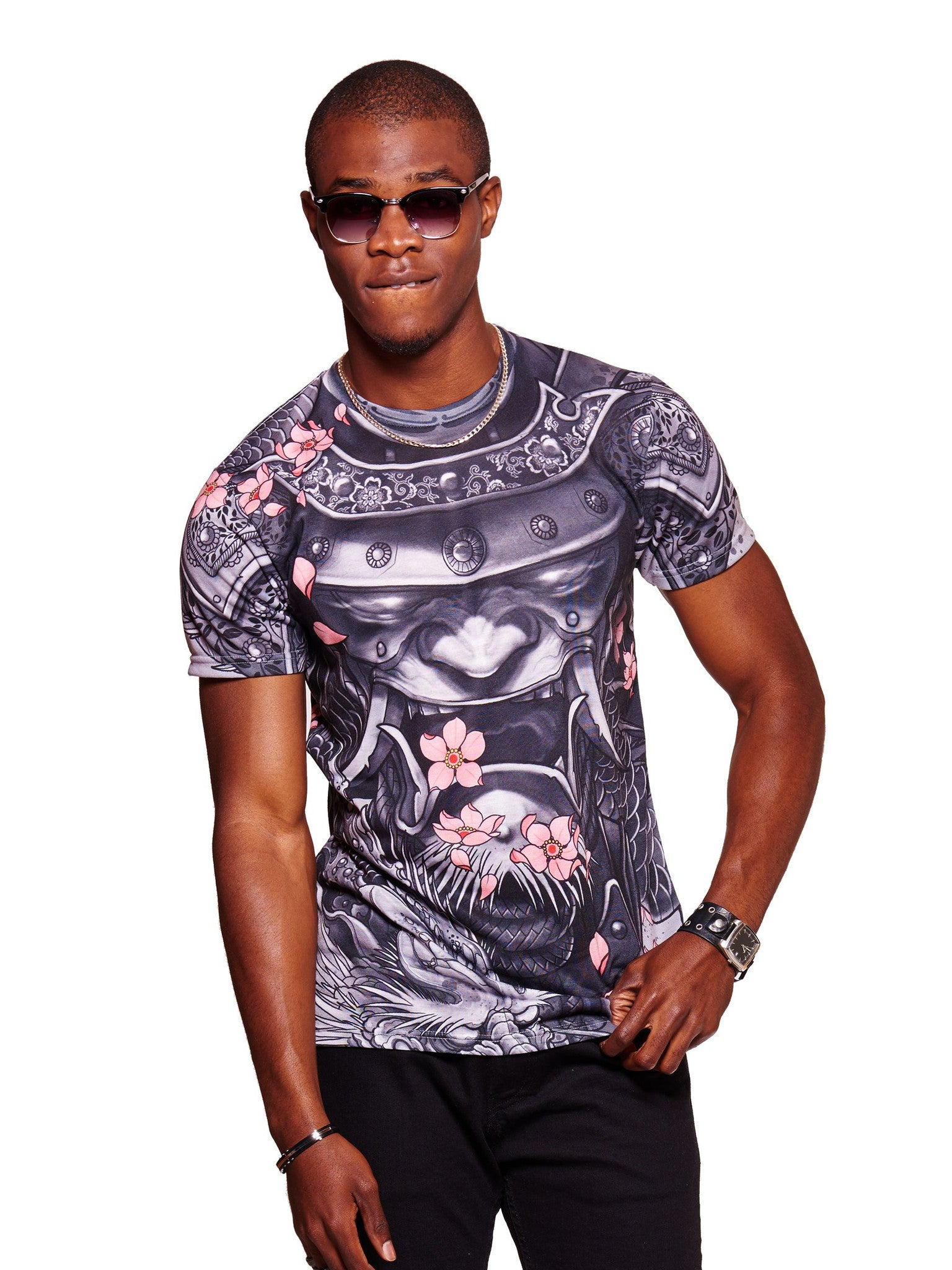 Samurai Dragon Men's Classic T-Shirt - Nuvango  - 1