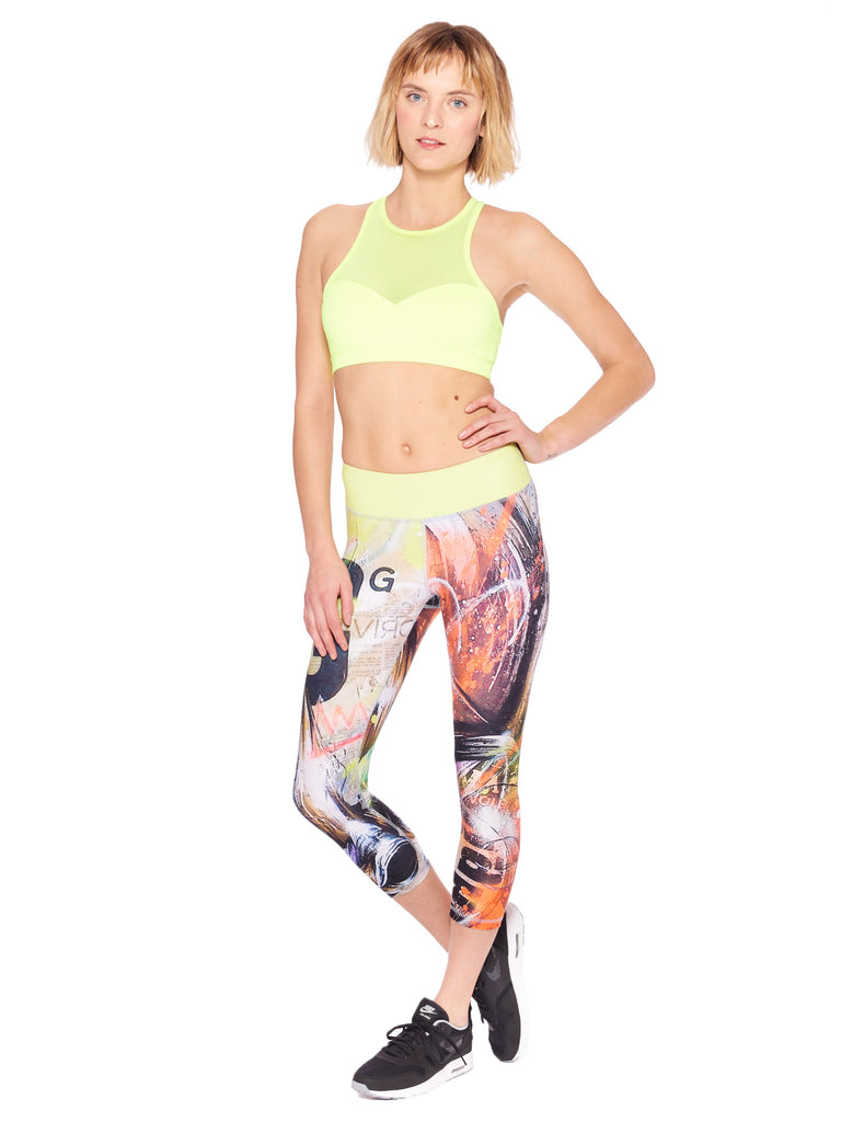 Golden Activewear Crop Leggings