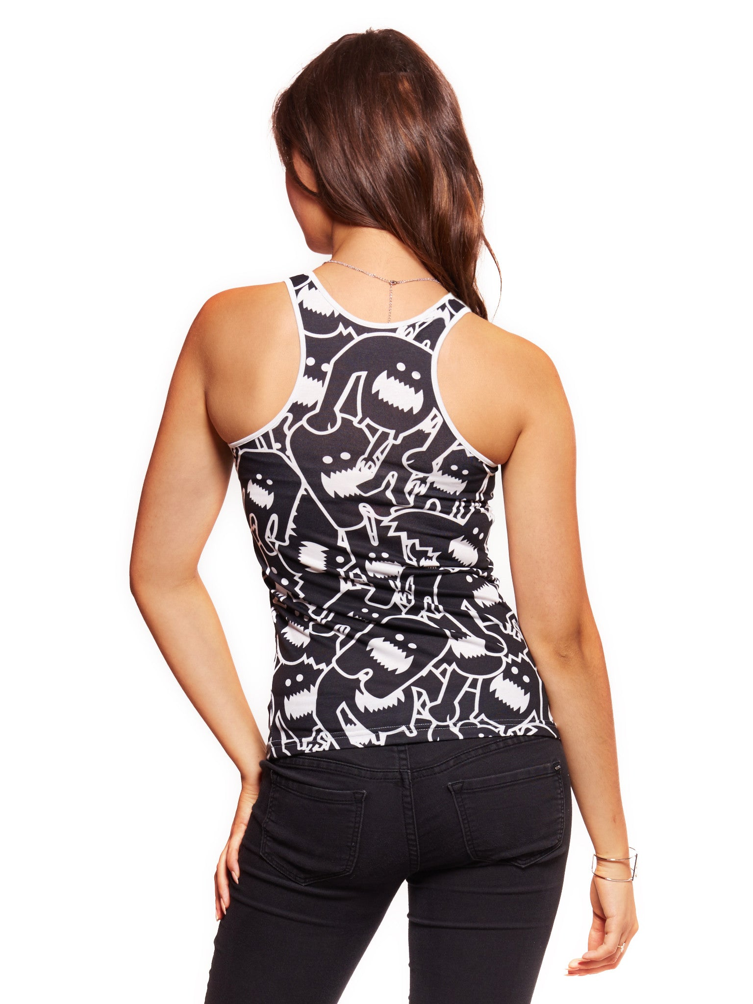 Monster Collage 2 Women's Trinity Tank - Nuvango  - 2
