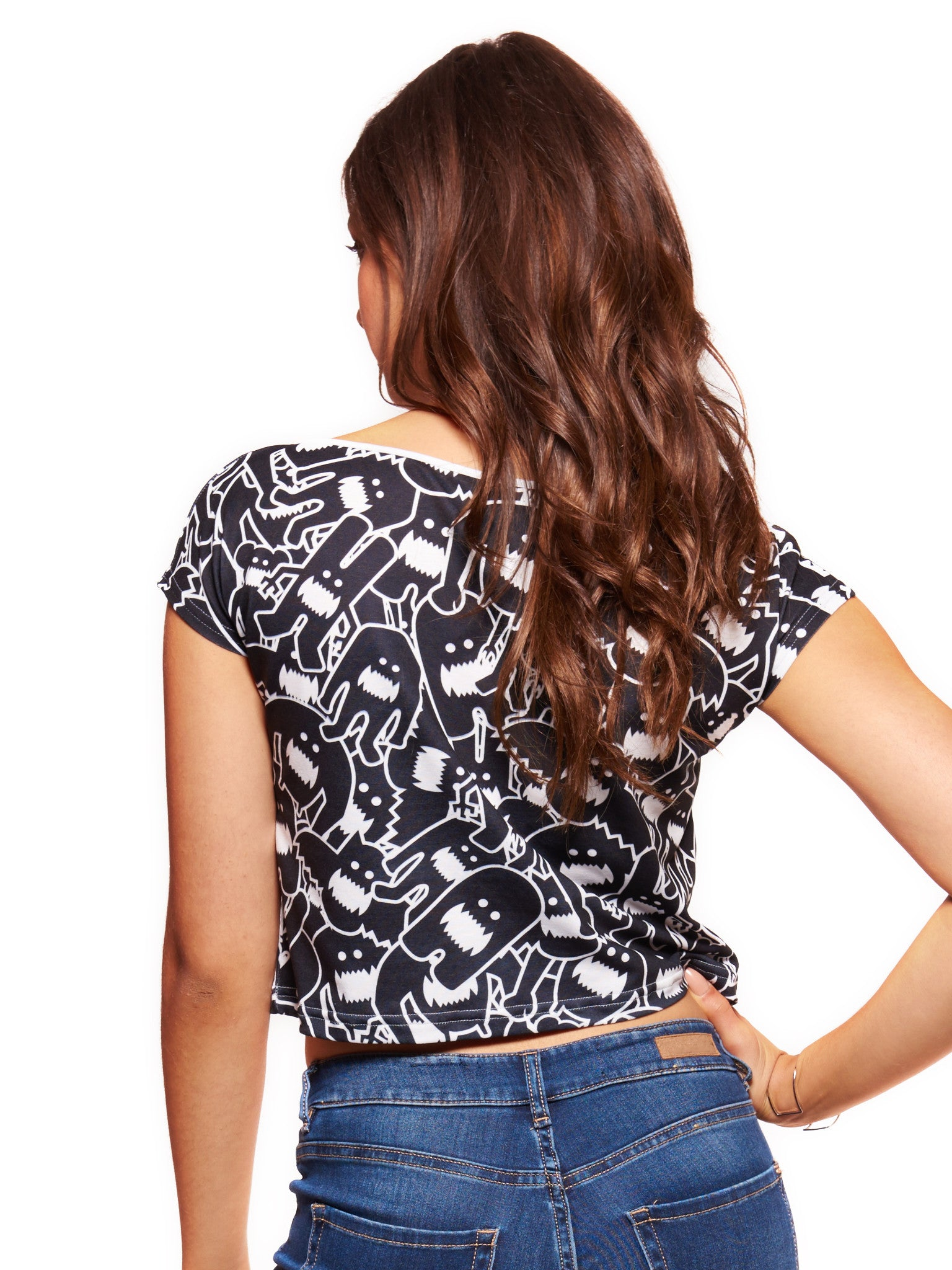 Monster Collage 2 Women's Crop Top - Nuvango  - 2