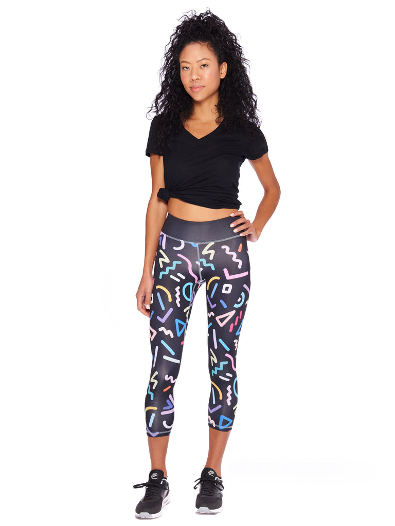 Neon Activewear Crop Leggings