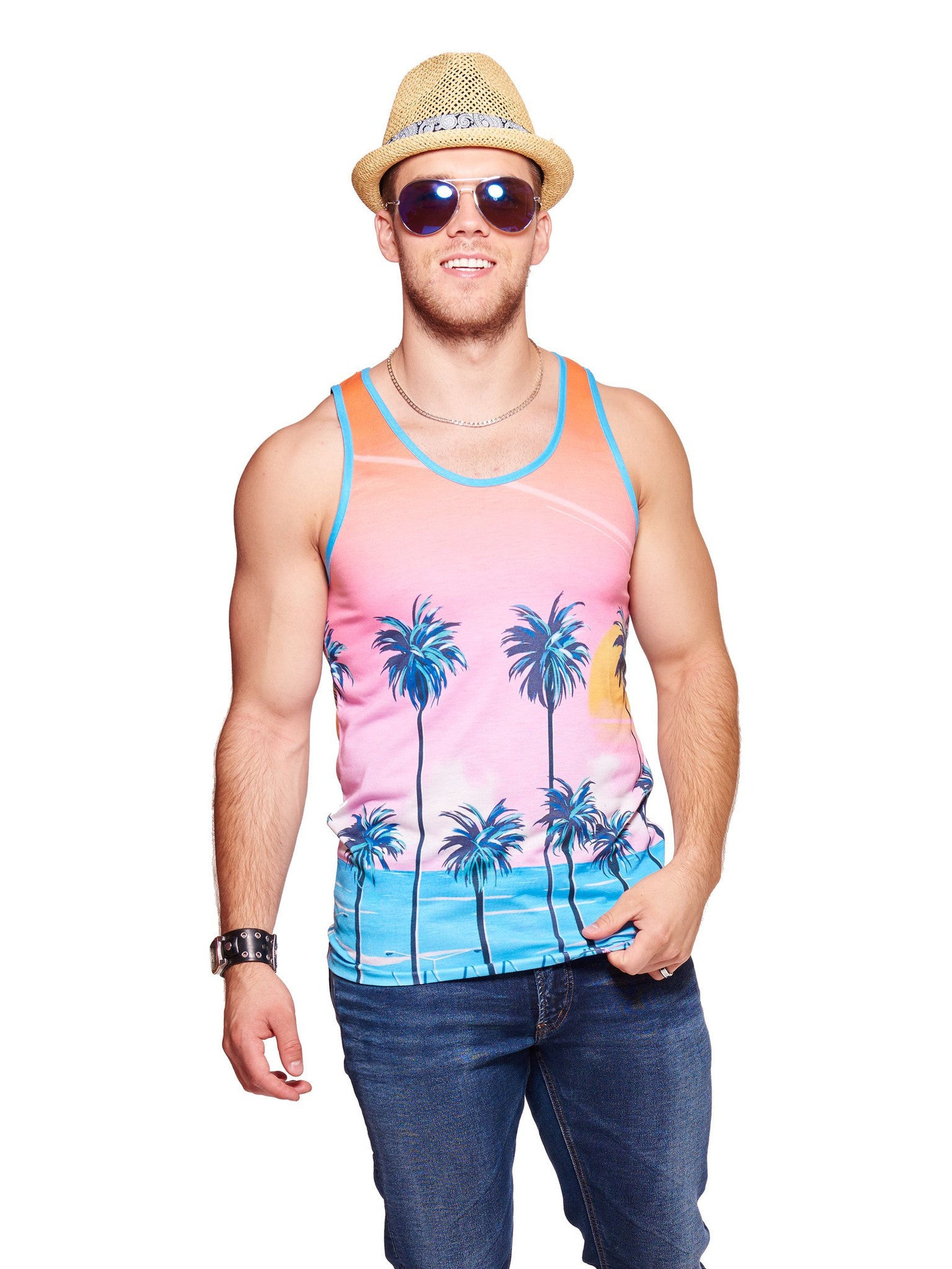 Sunset Lovers Men's Echo Beach Tank