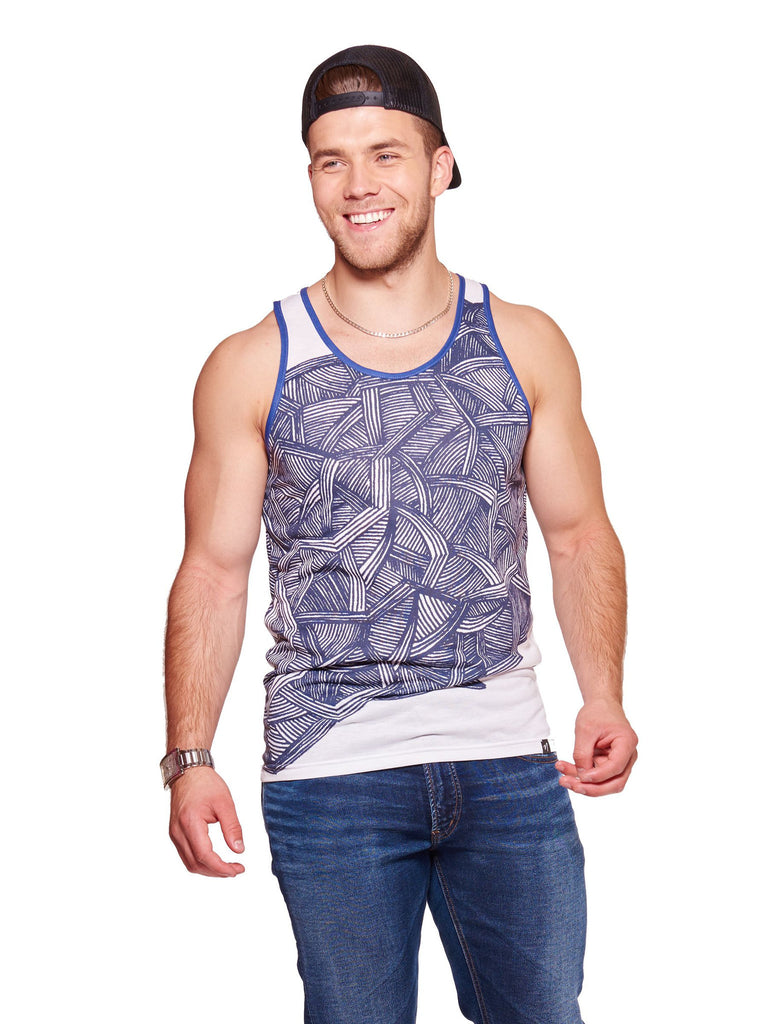 blue lines Men's Echo Beach Tank