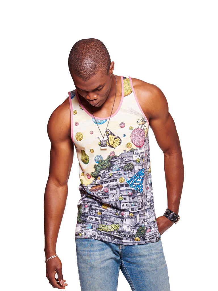 Symphony of Perception Men's Echo Beach Tank
