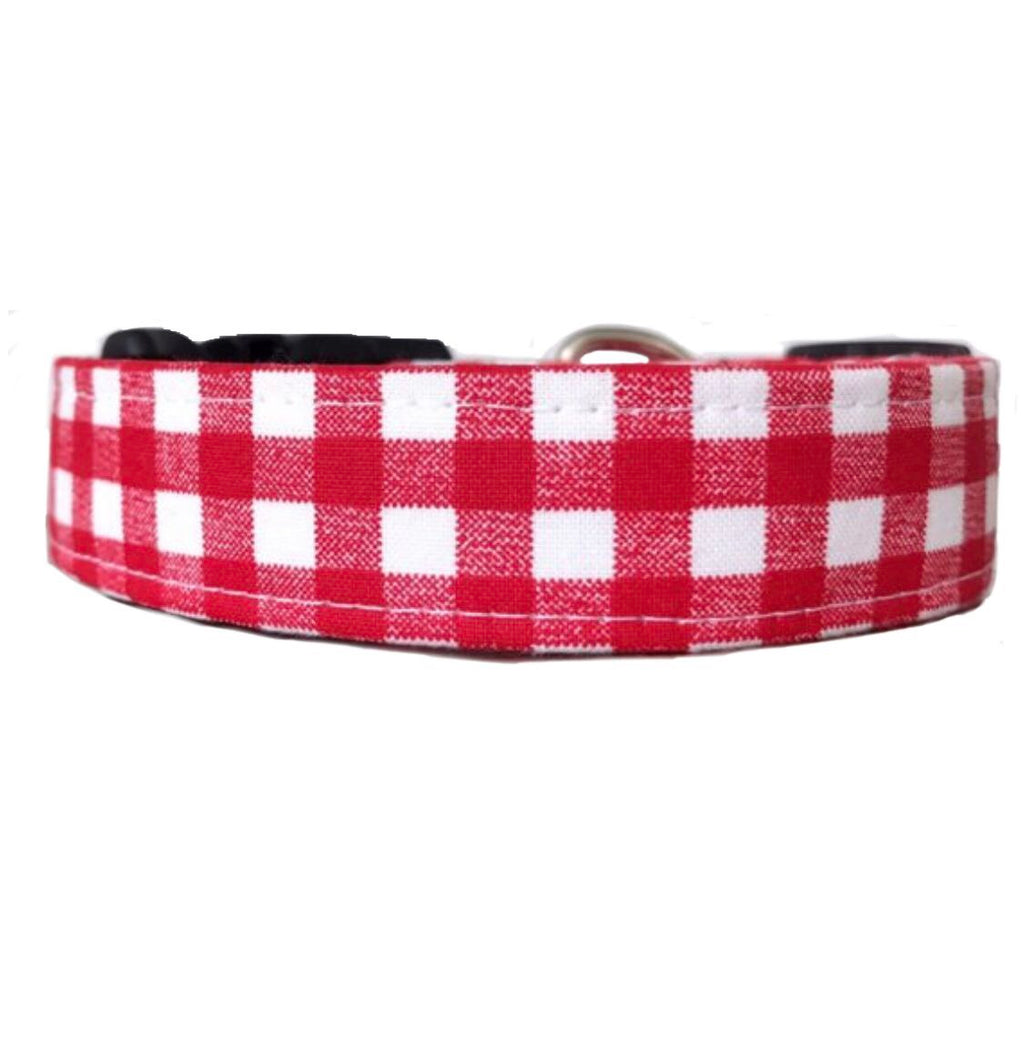 Red Gingham Dog Collar | Reese