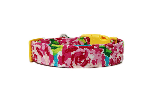 Lilly Pulitzer Inspired Dog Collar | Rosalie Collar - Uptown Pet Wear