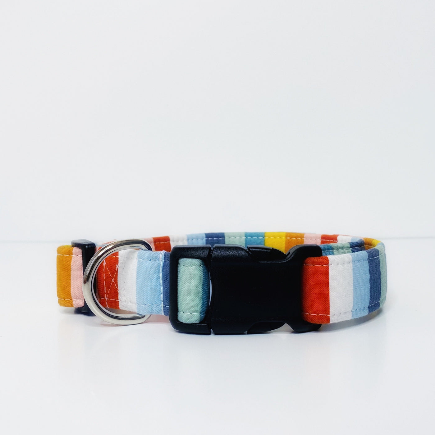 """The Yayoi"" Multi-Color Stripped Dog Collar"