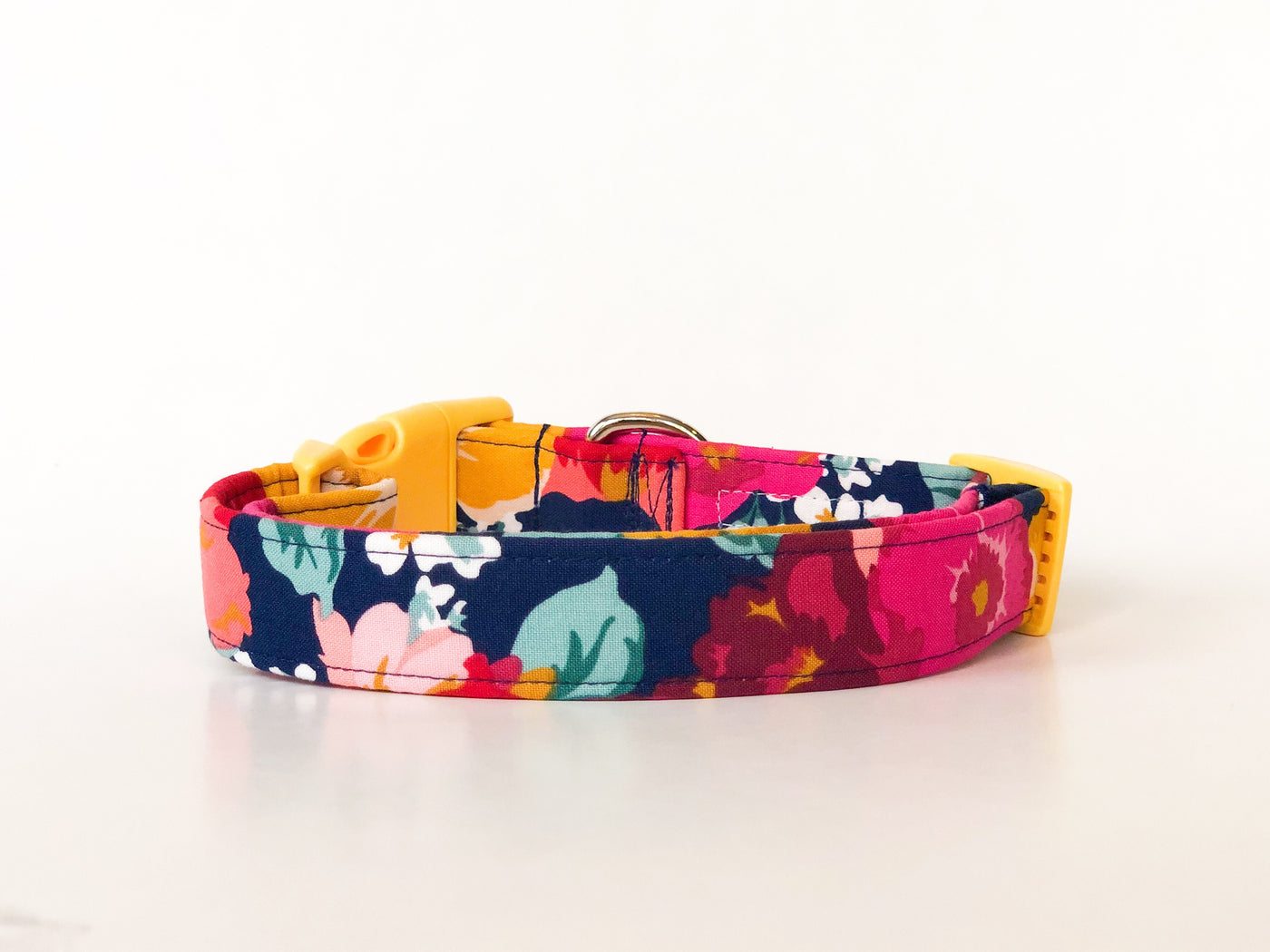 Floral Dog Collar in Navy | Grace - Uptown Pet Wear