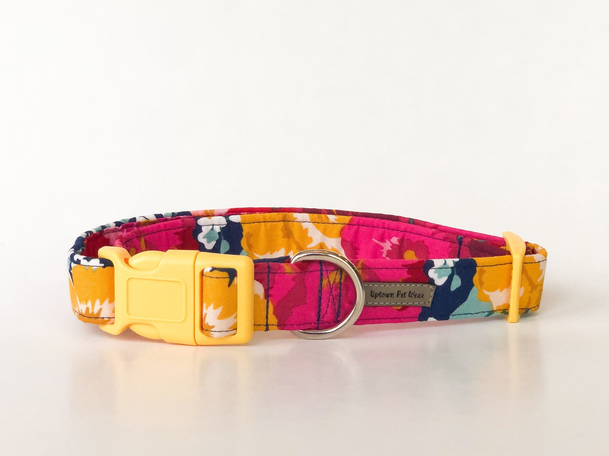 Floral Dog Collar in Navy | Grace