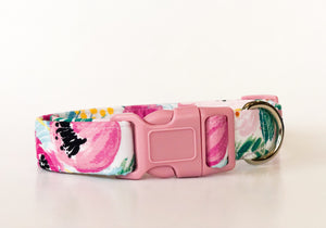 Floral Dog Collar in Pink | Cora