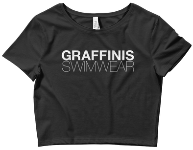 Graffinis Logo Cropped Black T-Shirt