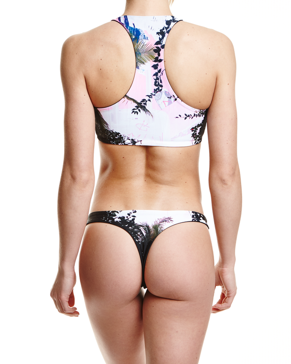 Concrete Jungles Thong Bikini Bottom - Graffinis Swimwear