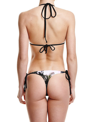 Concrete Jungles Tie Side Thong Bottom - Graffinis Swimwear