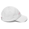 White Graffinis Dad Hat with Pink Embroidery Side