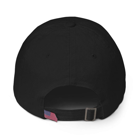 Black Graffinis Dad Hat with White Embroidery Back
