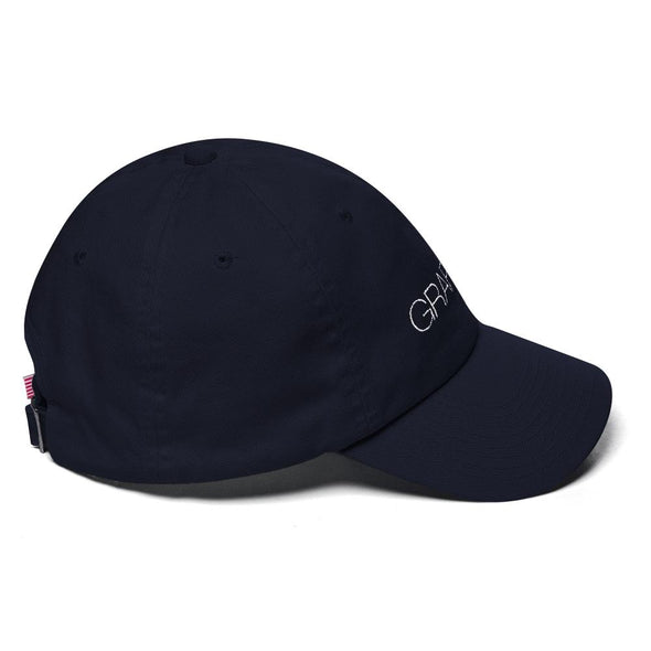 Navy Embroidered Graffinis Dad Hat Front Side