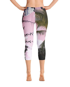 Concrete & Jungles Printed Capri Leggings - Graffinis Swimwear