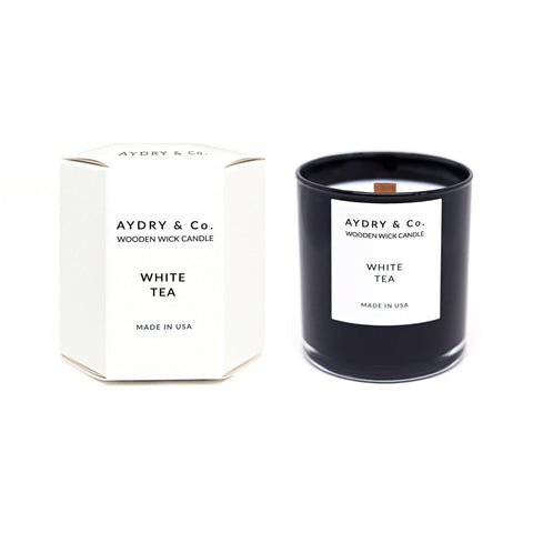 Aydry & Co. - White Tea Wooden Wick Candle