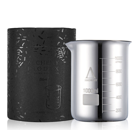 alchemy produx - silver beaker candle small - Fresh Laundry Co.