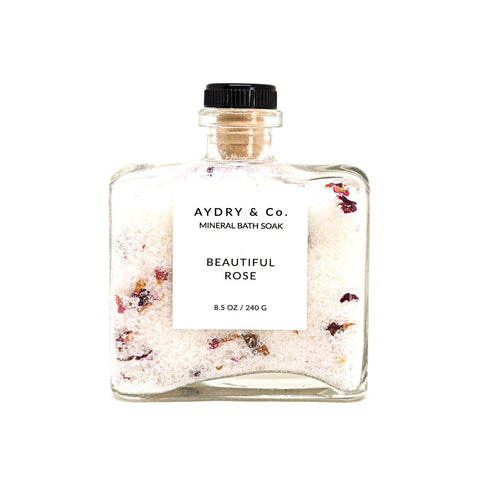 Aydry & Co. - Beautiful Rose Mineral Bath Soak