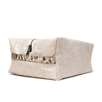 hammocks & high tea signature dopp kit - linen - Fresh Laundry Co. - 1