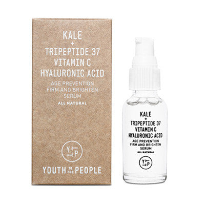 youth to the people - kale + tripeptide 37 vitamin c hyuluronic acid age prevention firm and brighten serum - Fresh Laundry Co.