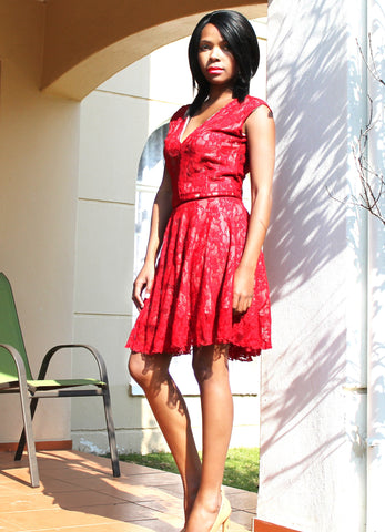 Birth Day Girl ( Also available in Black with Nude or Black Lining) - TONI! BY TONI KHUMALO