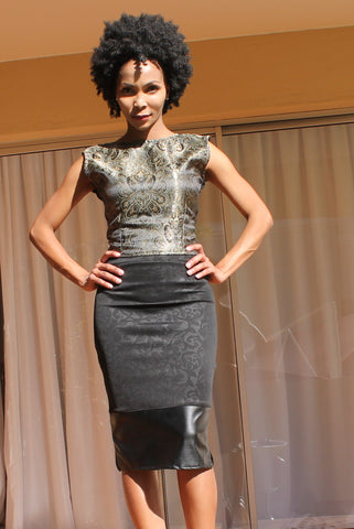 B. Black/Gold Twin Set - TONI! BY TONI KHUMALO