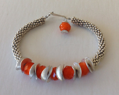 Orange Facet Bracelet