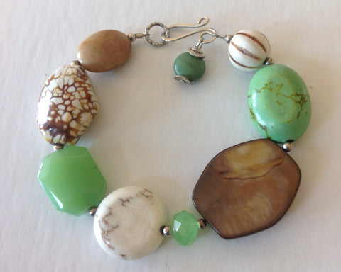 Green White Mix Bracelet